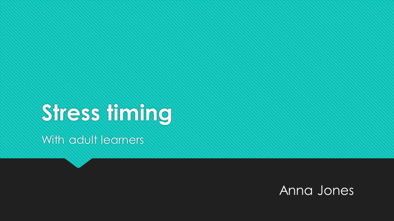 Sentence stress with adult learners