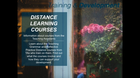 Teaching Grammar and Reflective Practice Distance Courses