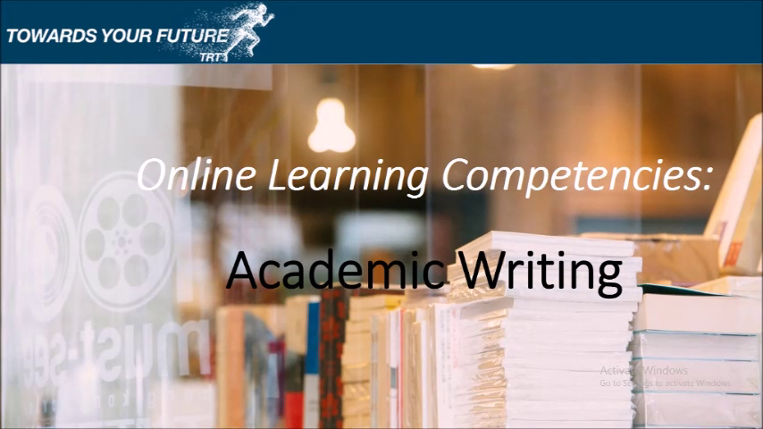 Distance Learning Competencies: Academic Writing