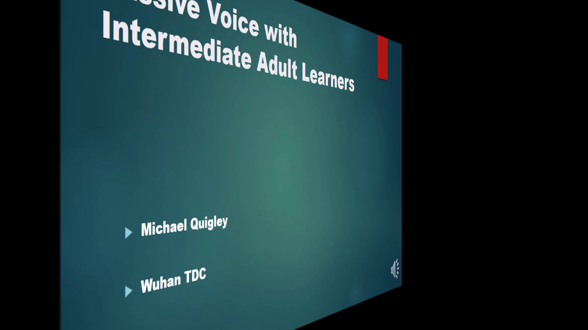 Teaching Passive Voice to Intermediate Adults