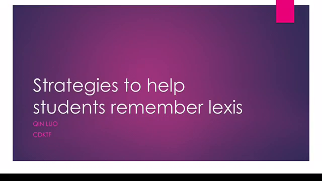 Techniques to help students remember lexis about time