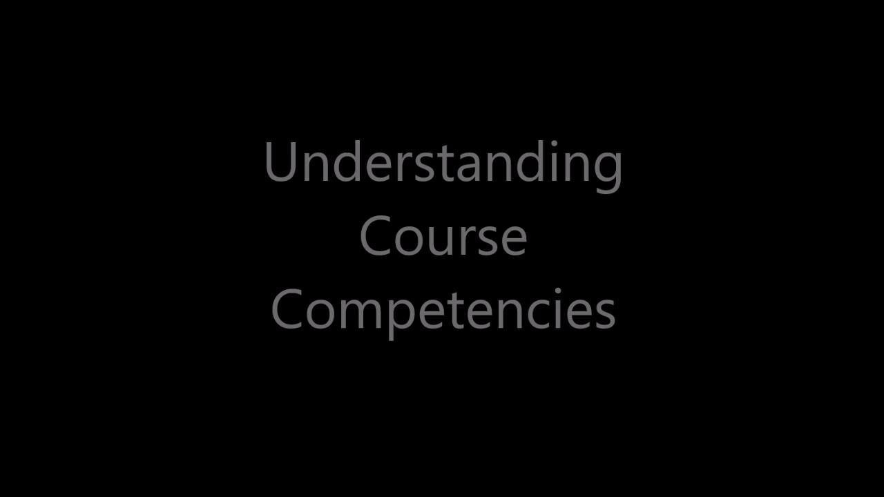 Understanding Competencies