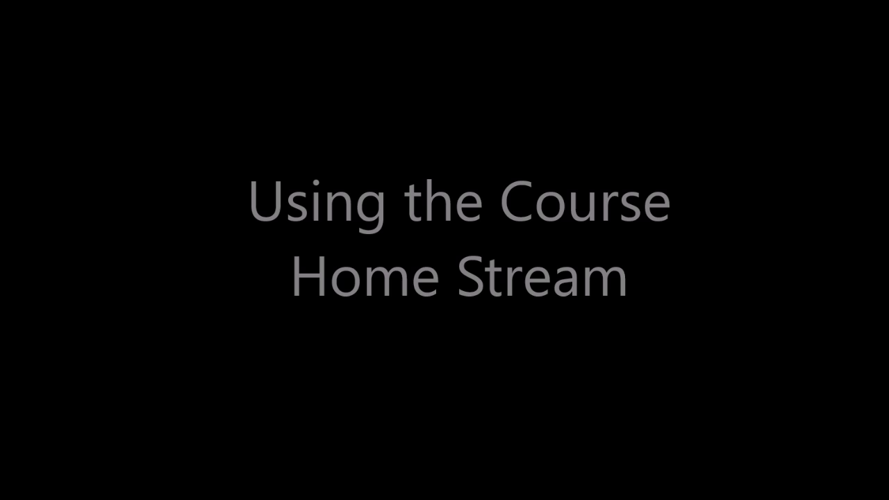 Using the Course Home Stream in Motivis