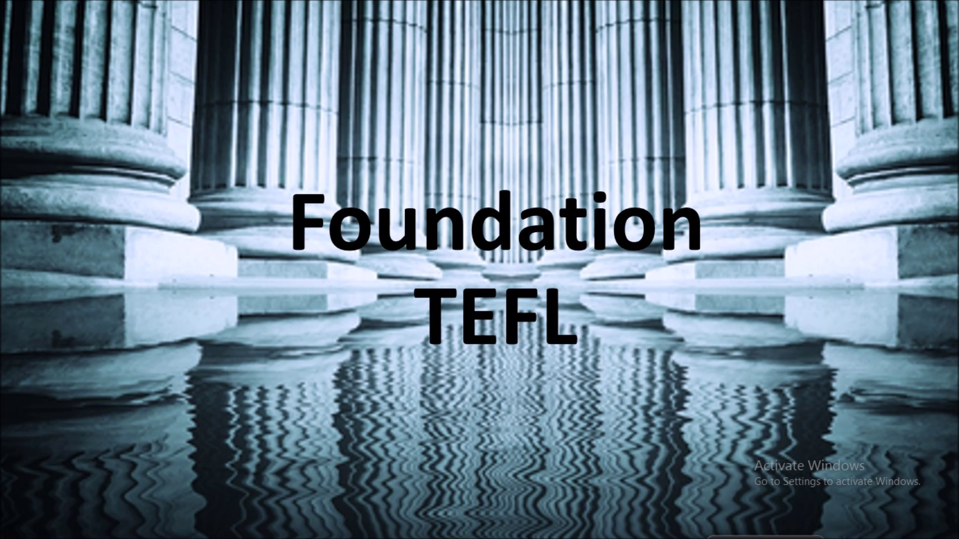 Welcome to Foundation TEFL