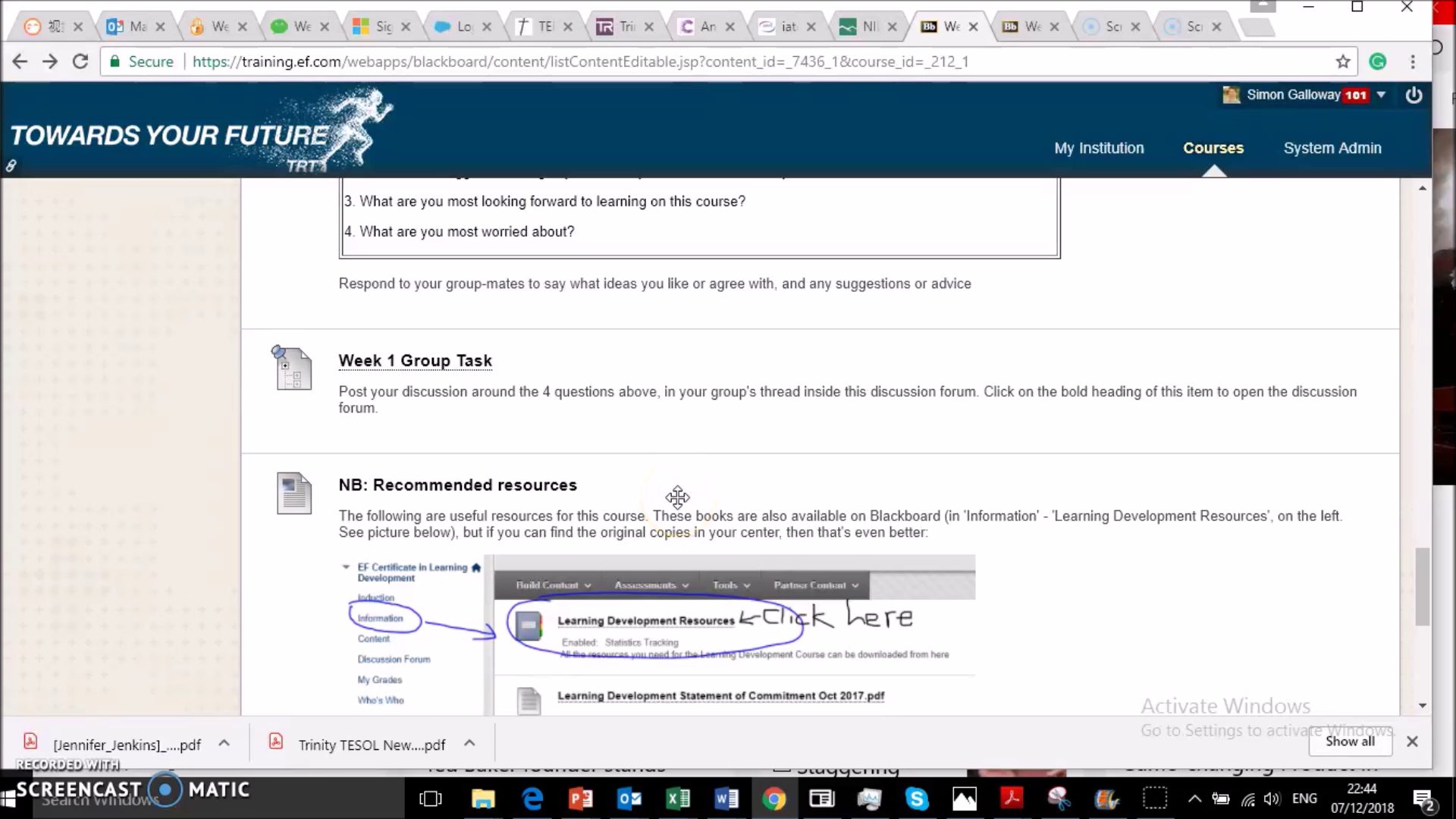 How to use group discussion boards in BB
