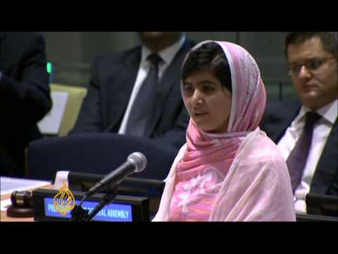 Pakistan's Malala takes Peace plea to UN