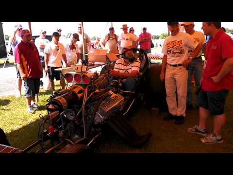 Bruce Larson at GM Nationals at Carlisle 2013 Cacklefest intro