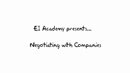 10. Who Negotiates? --- EI Academy