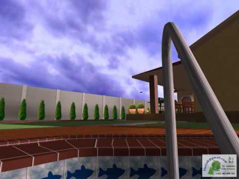3D projekt, plán, vizualizácia bazénu