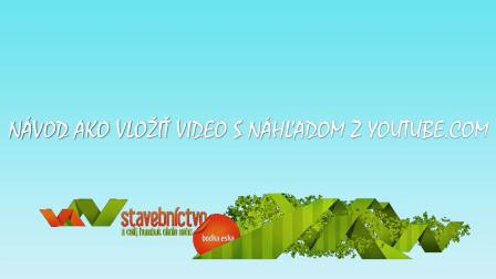 Pridanie videa z youtube.com
