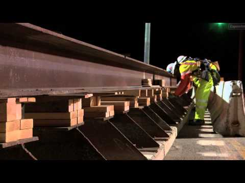 Expo Phase 2 -- Sepulveda Bridge Falsework Installation -- 5 Minute Video