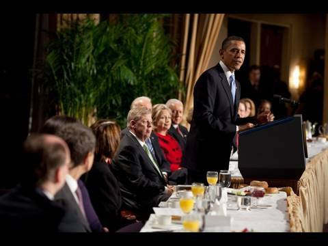 President Obama Speaks at National Prayer Breakfast