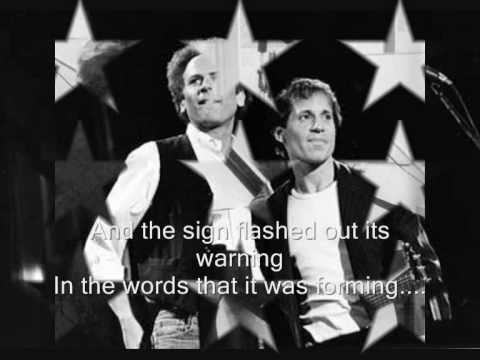 Simon & Garfunkel - Sound Of Silence ❥ (Lyrics On Screen - HQsound)