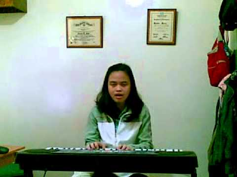 Jo Anne singing U SMILE by JUSTIN BIEBER w/ the piano