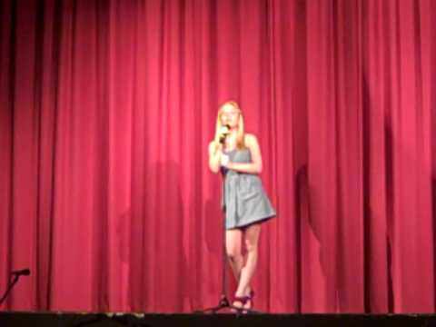 Me singing Bless the Broken Road by Rascall Flats at my talent show (cover 2)