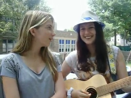Me and my friend alana singing leave the pieces by the wreckers (cover)