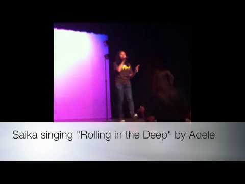 "Saika singing ""Rolling In The Deep"" by Adele"""