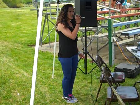Cami Brooks Singing National Anthem at High School Girls' Softball Championship Game