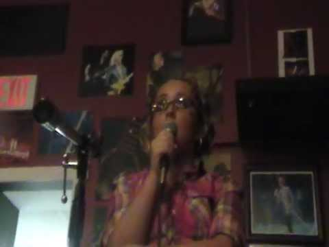 zoe alexa singing talking to the moon at main st coffee shop