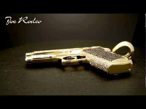 Joe Rodeo Custom made Gun pendant 14k Gold