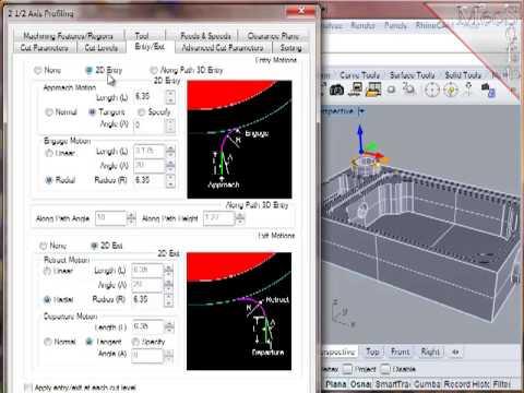 2 1/2 Axis Profiling using RhinoCAM 2012 | CAD/CAM turorials by MecSoft