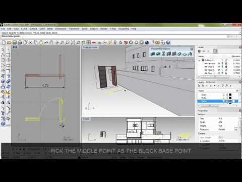 Create a custom door in Rhino and VisualARQ