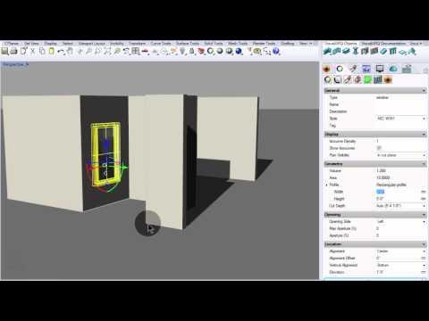 Dibujar muros y ventanas con VisualARQ