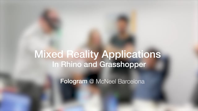 Mixed Reality Applications In Rhino And Grasshopper