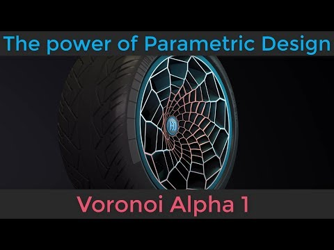 The power of Parametric Design: Voronoi Alpha 1