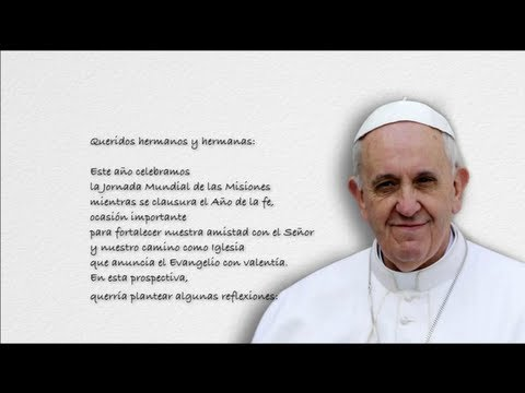 Mensaje del Papa Francisco para el DOMUND 2013
