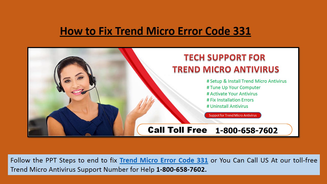 Fix Trend Micro Error 331 Call 1-800-658-7602 Technical Support