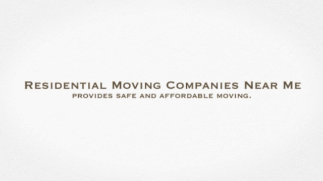 Residential Moving Companies Near Me | Call 6042186683 | 604-218-6683