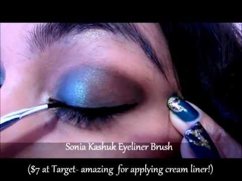 MAC Teal & Brown Down Eye Makeup Tutorial