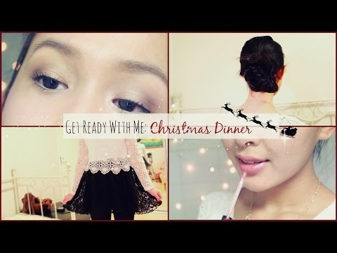 Get Ready With Me: Christmas Dinner {Makeup, Hair and Outfit!}