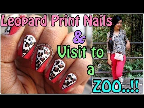 Leopard print nails tutorial & A day at the zoo | India