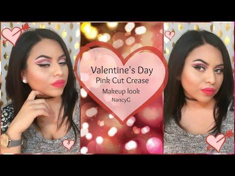 Valentine's Day Pink Cut Crease look | Nancy G