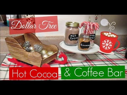 DIY Dollar Tree Coffee & Hot Cocoa Bar | VLOGMAS Day 10