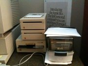 Stack o' IIgs floppy drives