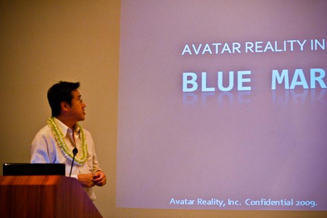 Kaz Hashimoto presenting Blue Mars