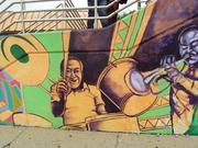 JOE HARRIS Depicted on  EAST BUSWAY MURAL