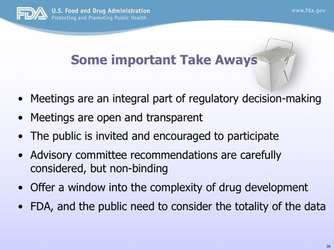 FDA Advisory Committee Meetings: An Overview of the Process