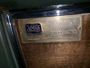 award plastered on glovebox!