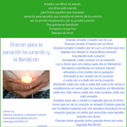 Oración para la sanación para la curación y la bendición