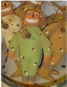 Painted Muslin Smilin' Jack Pumpkinhead for Fall