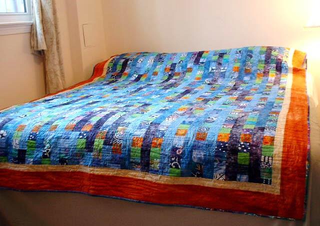 Deep ocean - quilt - 73x102 -