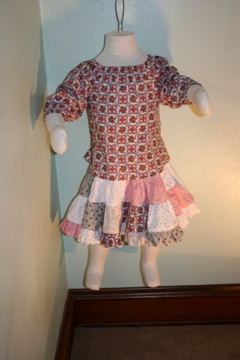 Girls Pieced Skirt and Top