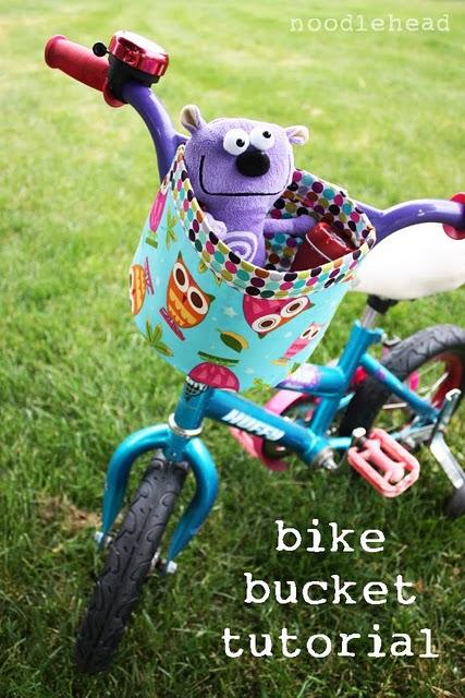 Fabric Bicycle Basket Tutorial