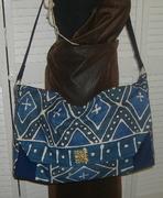 Indigo Mudcloth Messenger bag