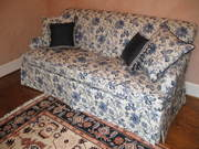 Sofa Slipcover and Pillows