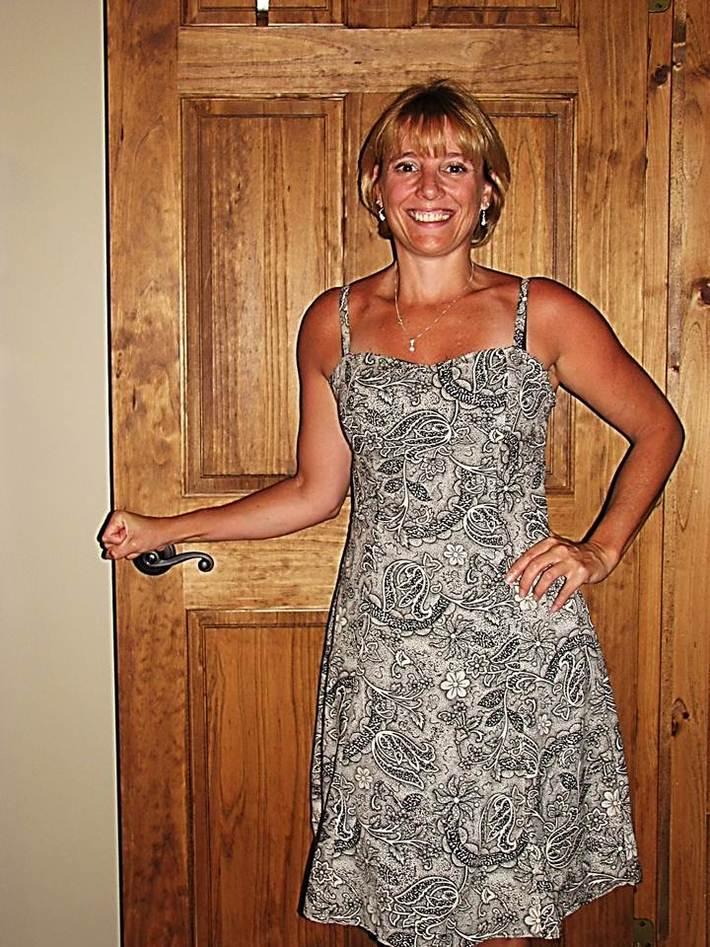 Black Paisley Print Summer dress Front view